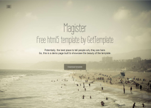 Magister Bootstrap Template